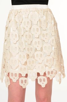 Lace skull skirt. Wow.
