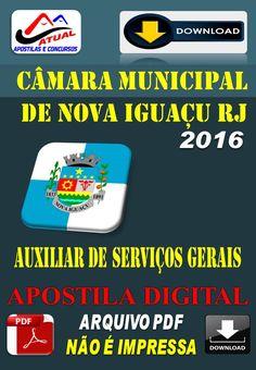 Apostila Digital Concurso Camara de Nova Iguacu RJ Auxiliar de Servicos Gerais 2016