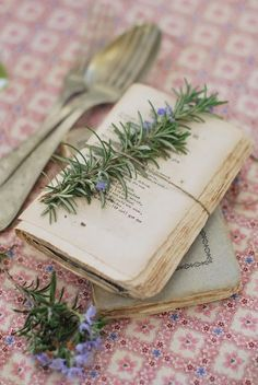 Rosemary keep the bugs away from old books