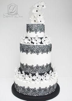 Amazing wedding cake- sugarveil lace  https://www.facebook.com/cofetariadanaturda cofetariadana.ro