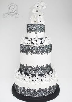 Amazing wedding cake- sugarveil lace  https://www.facebook.com/cofetariadanaturda cofetariadana.ro