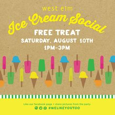ice cream social west elm
