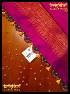 Krishne's tassel collection includes traditional kuchu, crochet patterns, contemporary and bridal saree tassels.Price ranges between and Saree Kuchu New Designs, Saree Tassels Designs, Silk Saree Blouse Designs, Fancy Blouse Designs, Bridal Blouse Designs, Henna Designs, Saree Accessories, Wedding Silk Saree, Thread Bangles