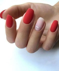 red prom nail polish trends that are in action this year . , Eye-catching red prom nail polish trends that are in action this year . , Eye-catching red prom nail polish trends that are in action this year . , 40 Red Nails Ideas to Try This Year Red Nail Art, Cool Nail Art, Nail Polish Trends, Nail Polish Colors, Gel Polish, Accent Nails, Cute Nails, Pretty Nails, Hair And Nails