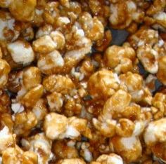 Amazing Caramel Corn! You can also add salted nuts and pretzels to the mixture but even by itself, it's superb!