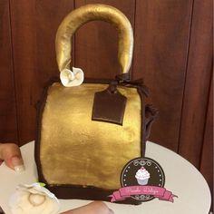 Mini bolsa de vainilla rellena de fudge para las amantes de la moda!!!