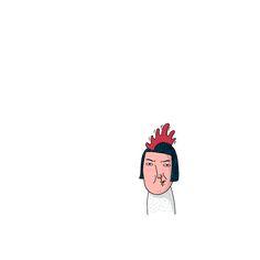 벼슬한다. . . #벼슬 #chicken #silly #drawing #scribbling #illustration