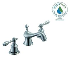 Glacier Bay Estates 8 in. Widespread 2-Handle Low-Arc Bathroom Faucet in Brushed Nickel-67276W-8004 - The Home Depot