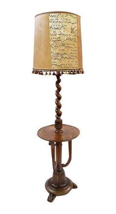 Agree, very Antique candelabra floor lamp metal and wood