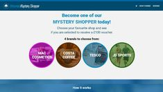 Become one of our MYSTERY SHOPPER today! Choose your favorite shop and see if you are selected to receive a voucher.