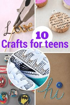 10 terrific crafts for teens, DIY and Crafts, Today I'm sharing 10 terrific crafts for teens & tweens from last week's linky and around the web. 10 terrific crafts for teens & tween. Arts And Crafts For Adults, Diy Crafts For Teen Girls, Crafts For Teens To Make, Arts And Crafts House, Easy Arts And Crafts, Arts And Crafts Projects, Easy Diy Crafts, Diy For Teens, Toddler Crafts