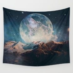 Wall Tapestry featuring Lake Moon by Seamless