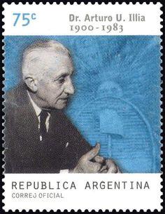 Stamp: President Arturo U. Illia (Argentina) (Birth centenary) Mi:AR 2588,G&o:AR 3061,Gz :AR 2530
