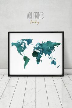 poster de mapa grande del mundo impresión del mapa de mundo