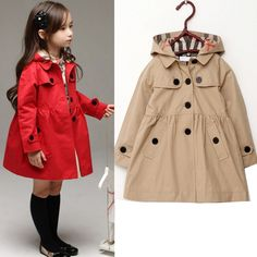 pas cher 2016 rouge kahiki nouveau beacutebeacute de la mode hiver veste agrave manches longues enfants vecirctements en coton toddler filles chaud