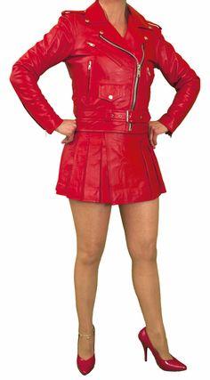 cd6999b00919 Wrap-around Leather Mini Skirt Kilt