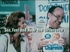 1970's Mr. Whipple Don't squeeze the Charmin Bath Tissue Toilet paper Co...