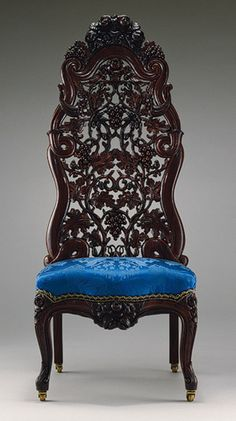 carved rosewood chair by John H. Belter (1850-60)