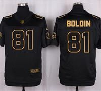Nike San Francisco 49ers #81 Anquan Boldin Black Men's Stitched NFL Elite Pro Line Gold Collection Jersey