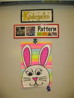 Kindergarten artists use Pattern to get ready for the Easter Bunny!