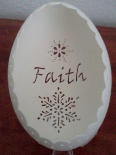 Personalized Carved Egg  Ornament Unique Gift by CraftyCarvings, $32.05