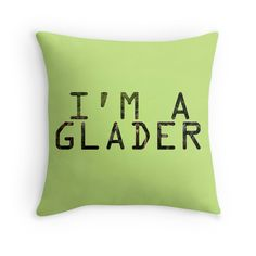 Glader pillow from Redbubble