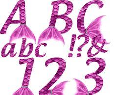 Mermaid Alphabet - Pink