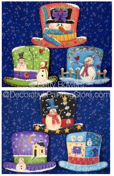 Frosty Hat Ornaments Ornaments ePattern PDF DOWNLOAD