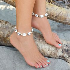Our Cowrie Shell Anklet Collection is right here. Choose from 3 great . - Our Cowrie Shell Anklet Collection is right here. Choose from 3 great designs ! Shell Jewelry, Cute Jewelry, Boho Jewelry, Beaded Jewelry, Silver Jewelry, Jewelry Accessories, Jewelry Necklaces, Fashion Jewelry, Silver Ring