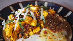 Tofu Scramble with Sun-Dried Tomatoes, Basil, and Parmesan | awinkandapinch.com