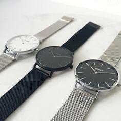 Cluse Mesh horloges bij www.xcuseme.nl :)