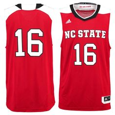 #16 NC State Wolfpack adidas Replica Basketball Jersey - Red - $74.99