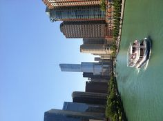 Chicago River. View from Lake Shore Dr bridge.