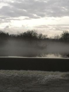 Foggy day on the river.