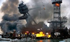 """Yes Explanation: Circulating as a """"color photo of the attack on Pearl Harbor"""", this is a still from the movie """"Pearl Harbor"""" Original image When: 2001 Where: Movie set (see filming. Pearl Harbor Film, Pearl Harbor Attack, Churchill, Remember Pearl Harbor, Uss Arizona, Sneak Attack, Remembrance Day, Historical Pictures, Japan"""