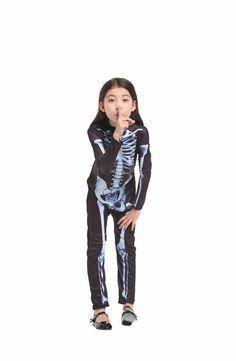 eBoutik Spooky Halloween Party Costume One-Piece Scary Jumpsuit Skeleton Bodysuit