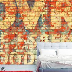 Removable Graffiti Wallpaper Tagged  Peel & by AccentWallCustoms