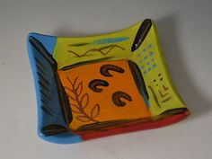 Square Plate by AmyMansonPottery on Etsy, $22.00