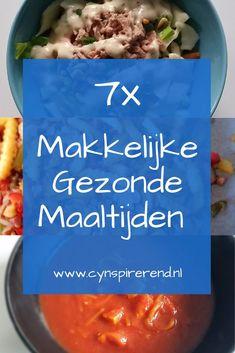 We eten graag gezond en ik houd ervan om een lekkere maaltijd op tafel te toveren. Maar na een drukke of warme dag wil ik echt niet te lang in de keuken staan. Deze zeven makkelijke, gezonde maaltijden tover je zonder al teveel gedoe op tafel. Welke ga jij maken? Bekijk de recepten op www.cynspirerend.nl #watetenwevandaag #recepten #lekkerensimpel #cynspirerend Grains, Rice, Food, Essen, Meals, Seeds, Yemek, Laughter, Jim Rice