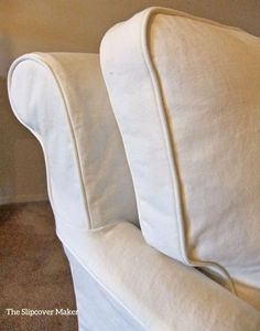 Heavy weight white denim makes the best washable, durable slipcovers.