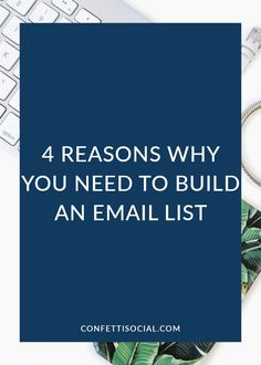 Building an email list is important for both bloggers and entrepreneurs alike. Find out 4 key reasons why you need to build an email list today!