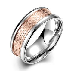 2016 Father's Day Fashion titanium colored steel ring women men unisex best gift coated filled tungsten Ring Fashion Jewelry