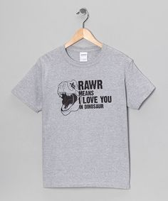 T-Rex may have been a fearsome predator back in his day, but that doesn't mean the tongue-in-cheek graphic on this easy-fitting tee is anything less than hilarious. An all-cotton build means this cool shirt is just as comfy as it is clever.