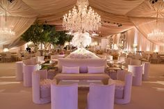 We were part of this gorgeous tented wedding in Texas with neutral and gold color palette featured in Inside Weddings