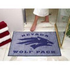 """34"""" x 44 1/2"""" Nevada Wolf Pack All Star Floor Mat"""