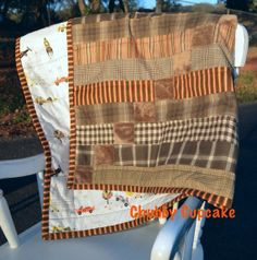This Little Man Planes & Cars Baby Boy Quilt with by ChubbyCupcake, $75.00 remains my favorite. It has such nice colors, some mink fur for little fingers to explore, and the vintage planes and cars backing is just too cute.