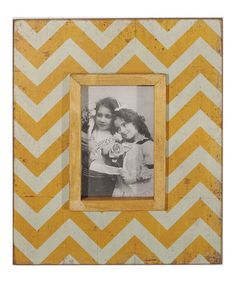 Take a look at this Yellow Zigzag Wood Photo Frame by VIP International on #zulily today!