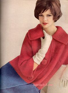 Reprint vintage Red and Blue Coat Knitting pattern in PDF instant download version .  Skill Level : Intermediate See additional photo size and materials information  Pattern instructions are in English Language and written in words , there are no charts , no photos instruction  **************************************************************************** This item is a Pattern in PDF file format. It is NOT a paper pattern or book or the FINISHED actual product…