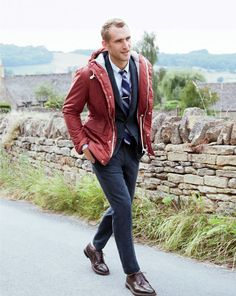 How to wear: de parka jas man-man Herren Style, Look Street Style, Smart Styles, Mens Fall, Tailored Suits, Suit And Tie, Well Dressed Men, Autumn Winter Fashion, Menswear