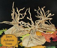 Bare Autumn Trees - Paper Bag Trees - Modern Christian Homemaker